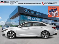 used 2021 hyundai elantra hybrid ultimate w two-tone - 185 b w for sale in nepean, ontario carpages.ca