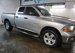used 2009 dodge ram 1500 slt 4x4 quad cab certified 2yr warranty service records bluetooth cruise alloys running boards for sale in milton, ontario carpages.ca
