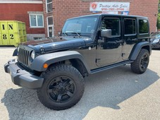used 2016 jeep wrangler night sky unlimited 3.6l 4x4 two tops one owner for sale in cambridge, ontario carpages.ca