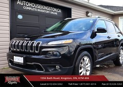 used 2016 jeep cherokee limited 4x4 - heated and cooled seats - leather for sale in kingston, ontario carpages.ca