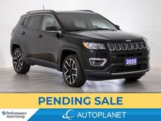 used 2020 jeep compass limited 4x4, uconnect 4c navi grp, apple carplay for sale in clarington, ontario carpages.ca