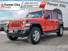 used 2020 jeep wrangler unlimited sport for sale in london, ontario carpages.ca